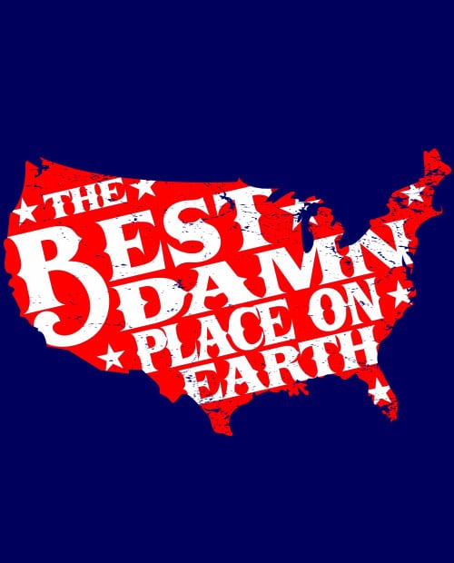 Best Place on Earth Graphic T-Shirt main vector design