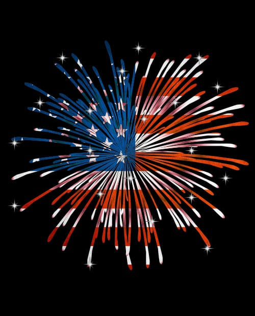 USA Firework Graphic T-Shirt main vector design