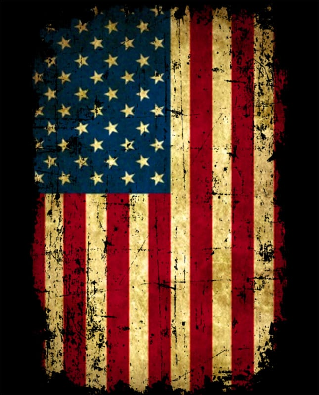Distressed American Flag Graphic T-Shirt main vector design
