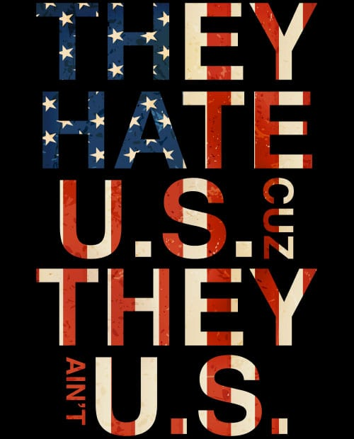 They Hate Us Cuz They Ain't Us Graphic T-Shirt main vector design