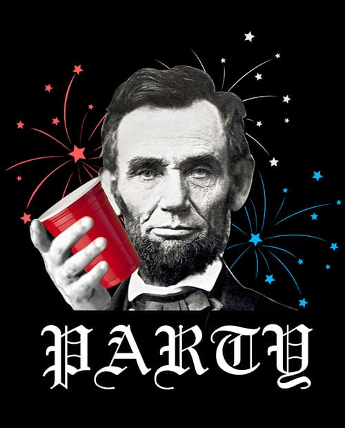 Party Lincoln Graphic T-Shirt main vector design