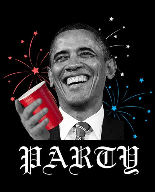 Party Obama Graphic T-Shirt main vector design