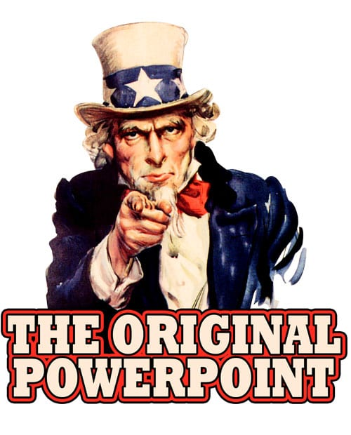 The Original Power Point Graphic T-Shirt main vector design