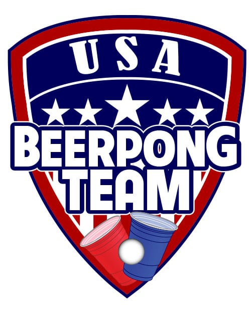 USA Beer Pong Team Graphic T-Shirt - main vector design