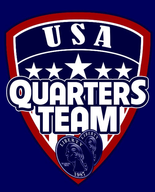 USA Quarters Team Graphic T-Shirt main vector design