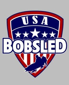 USA Bobsled Graphic T-Shirt main vector design