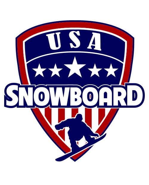 USA Snowboard Team Graphic T-Shirt main vector design