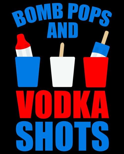 Bomb Pops and Vodka Shots Graphic T-Shirt main vector design