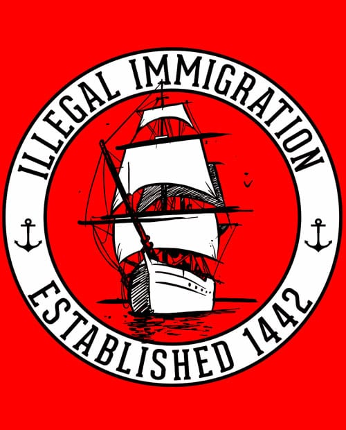 Illegal Immigration 1442 Founding Graphic T-Shirt main vector design