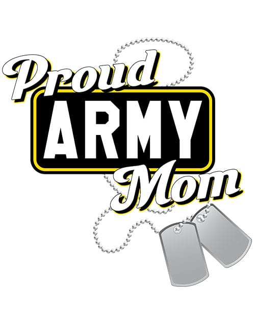 Proud Army Mom Graphic T-Shirt main vector design