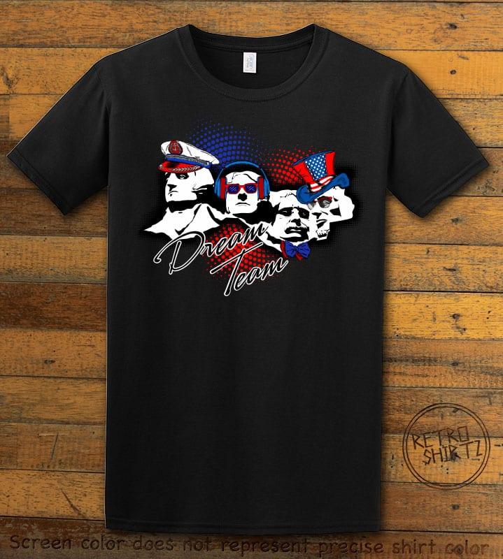 Dream Team Graphic T-Shirt - black shirt design