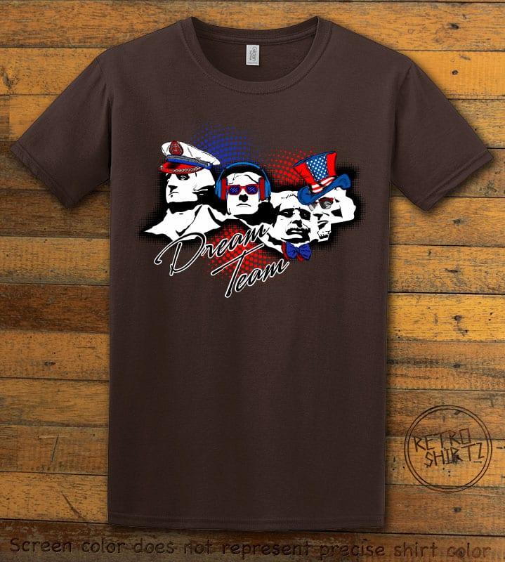 Dream Team Graphic T-Shirt - brown shirt design