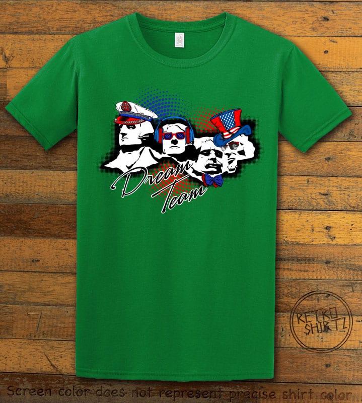 Dream Team Graphic T-Shirt - green shirt design