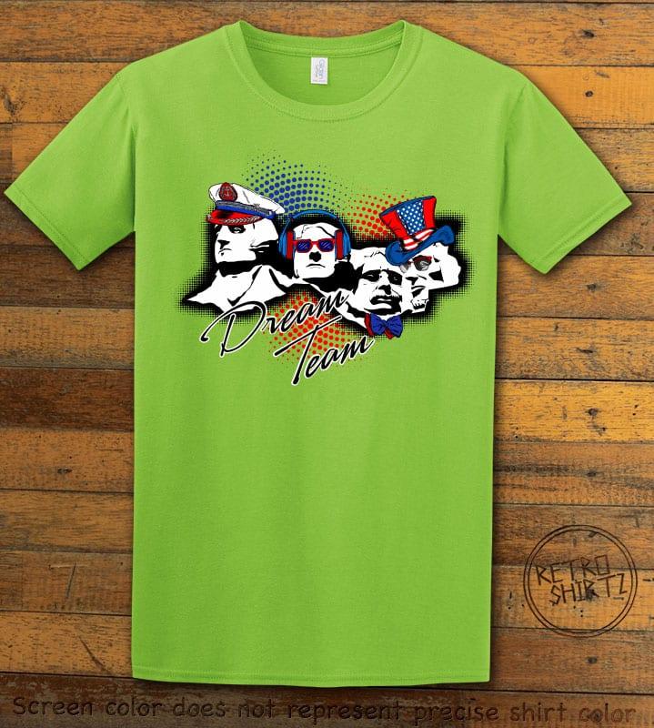 Dream Team Graphic T-Shirt - lime shirt design