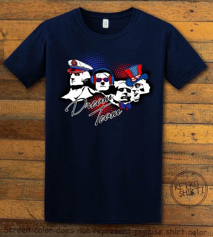 Dream Team Graphic T-Shirt - navy shirt design