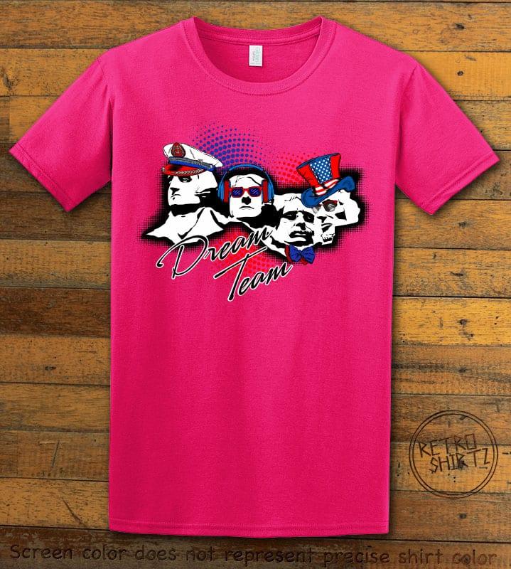 Dream Team Graphic T-Shirt - pink shirt design