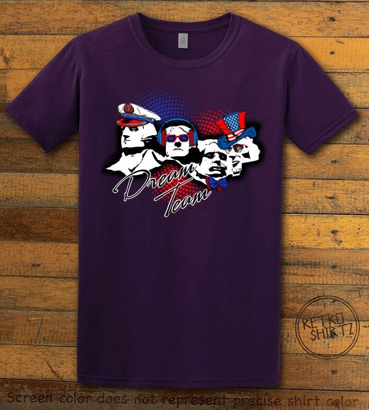 Dream Team Graphic T-Shirt - purple shirt design