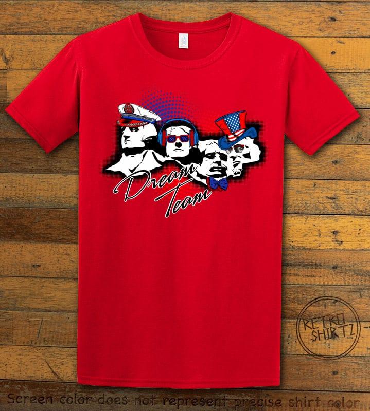 Dream Team Graphic T-Shirt - red shirt design