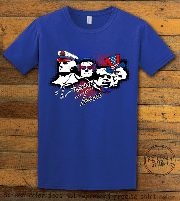 Dream Team Graphic T-Shirt - royal shirt design