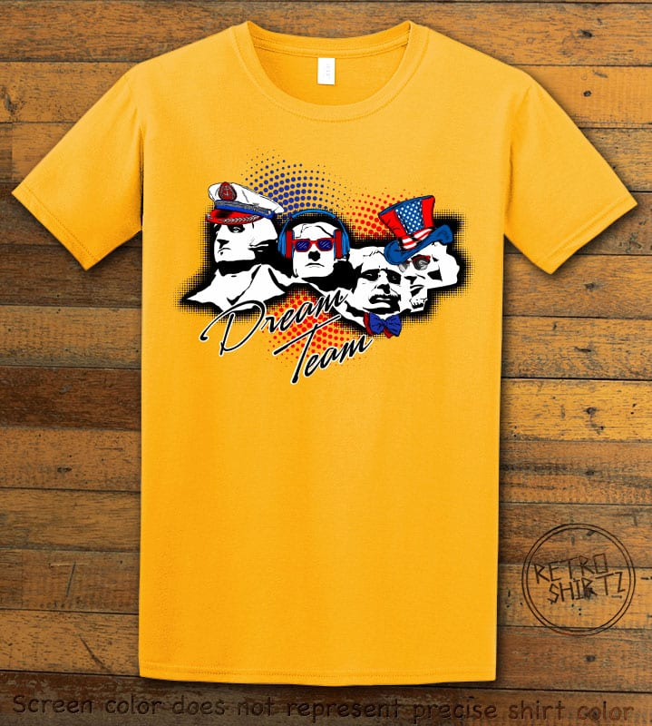 Dream Team Graphic T-Shirt - yellow shirt design