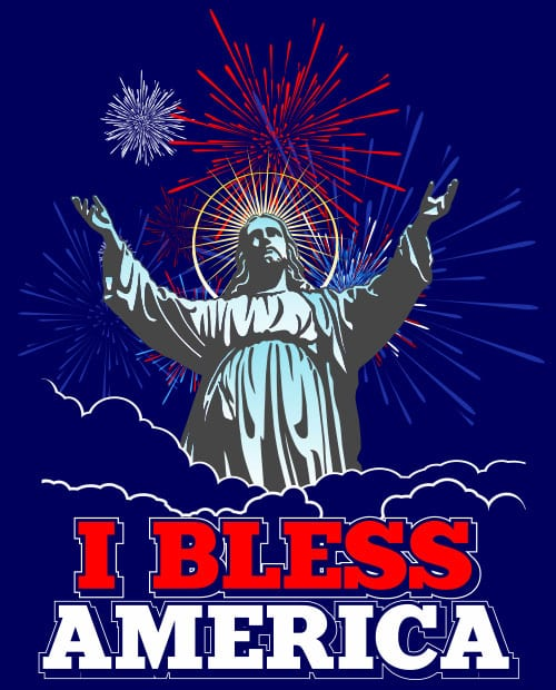 I Bless America Graphic T-Shirt main vector design