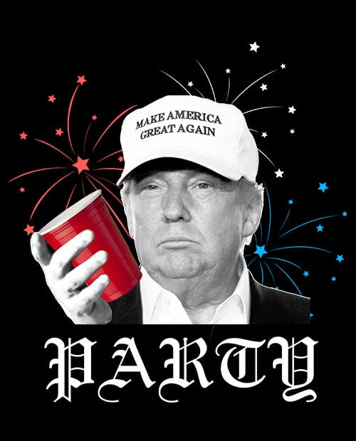 Party Trump Graphic T-Shirt Main Vector Design