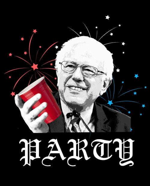 Party Bernie Graphic T-Shirt Main Vector Design