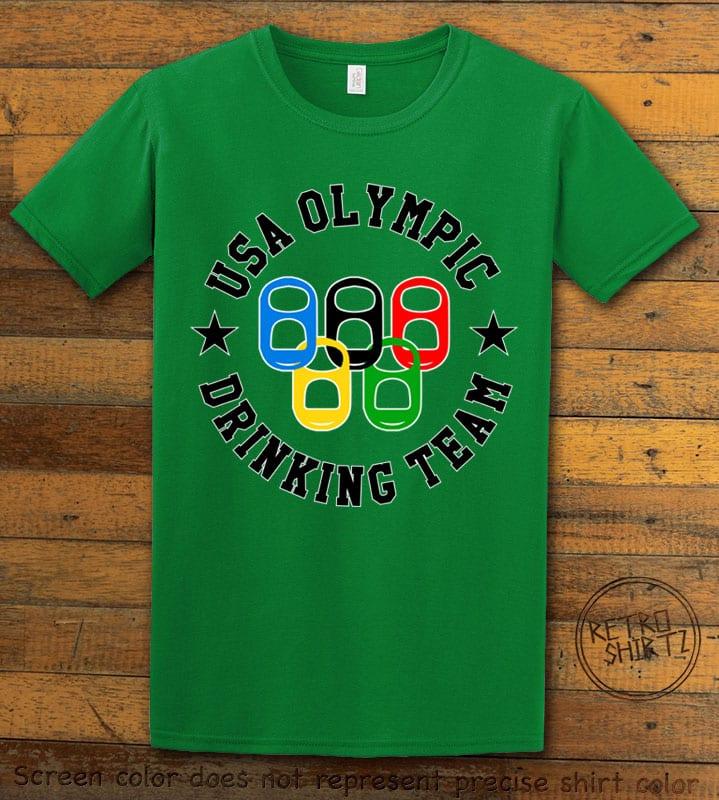 USA Olympic Drinking Team Graphic T-Shirt - green shirt design