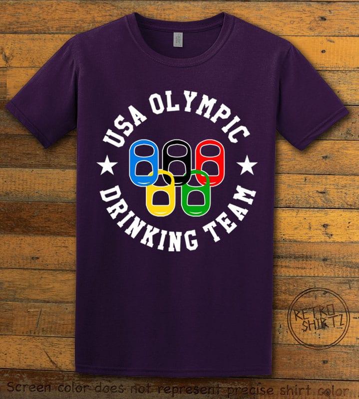 USA Olympic Drinking Team Graphic T-Shirt - purple shirt design