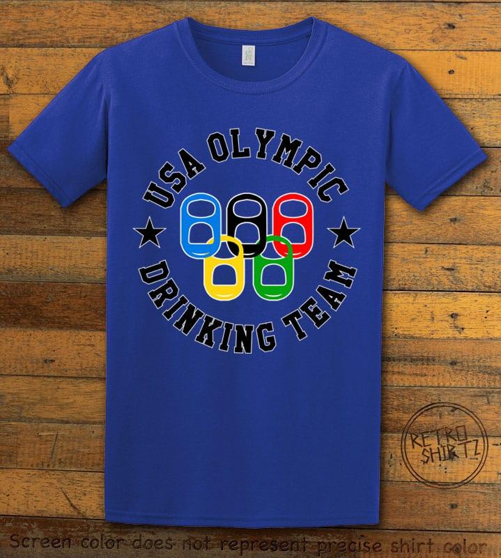 USA Olympic Drinking Team Graphic T-Shirt - royal shirt design
