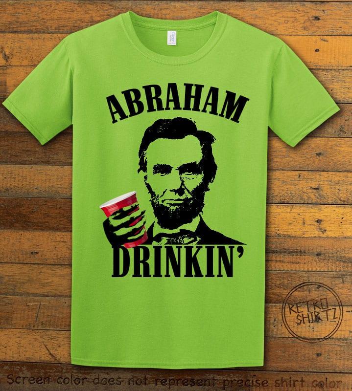 Abraham Drinkin' Graphic T-Shirt - lime shirt design