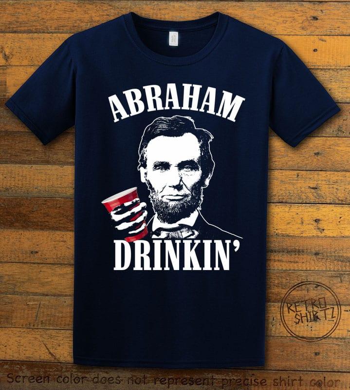 Abraham Drinkin' Graphic T-Shirt - navy shirt design