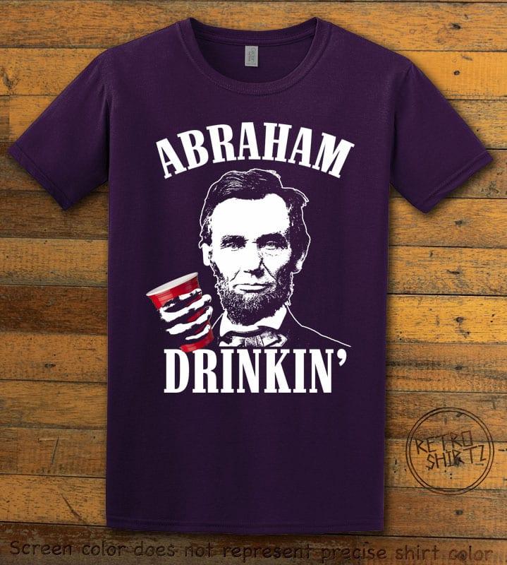 Abraham Drinkin' Graphic T-Shirt - purple shirt design