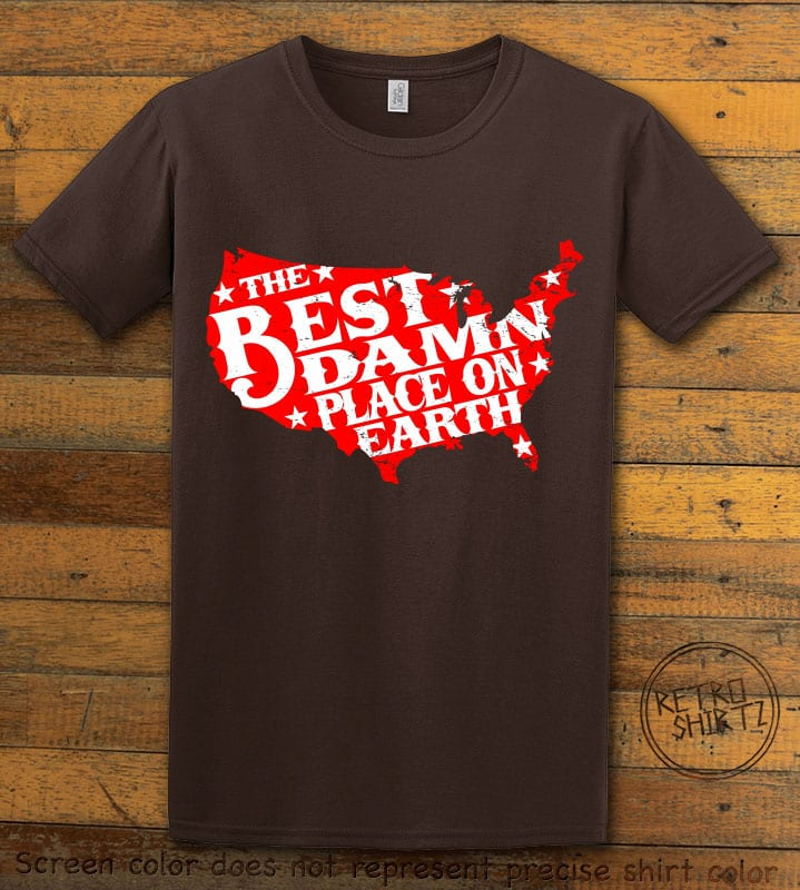 Best Place on Earth Graphic T-Shirt - brown shirt design