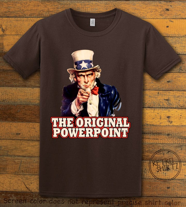 The Original Power Point Graphic T-Shirt - brown shirt design