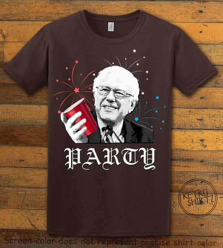 Party Bernie Graphic T-Shirt - brown shirt design