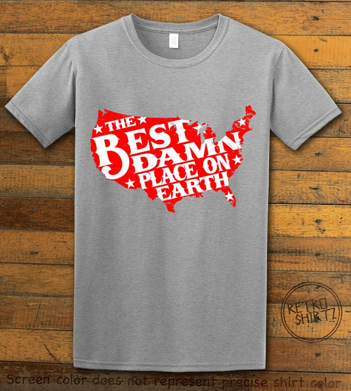 Best Place on Earth Graphic T-Shirt - gray shirt design
