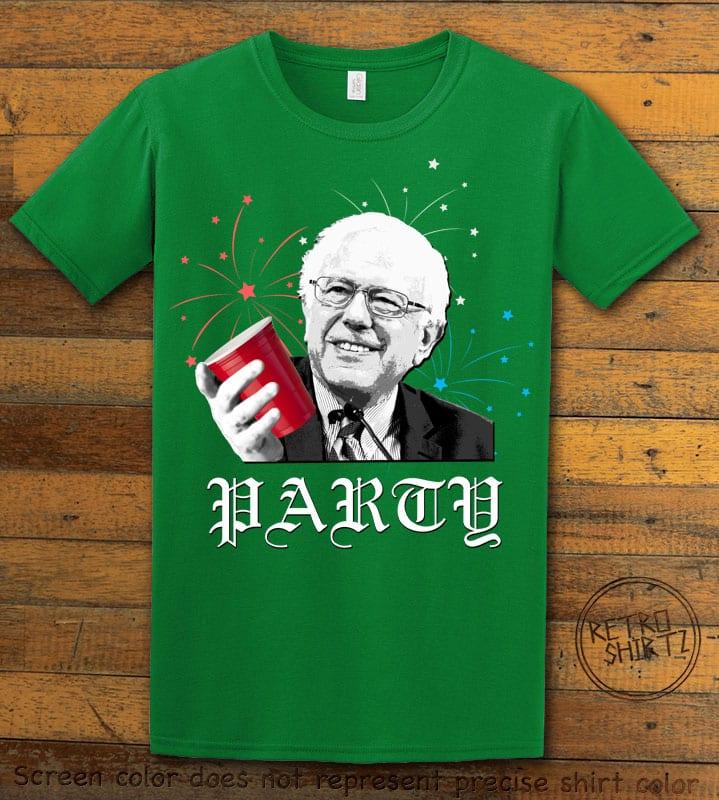 Party Bernie Graphic T-Shirt - green shirt design