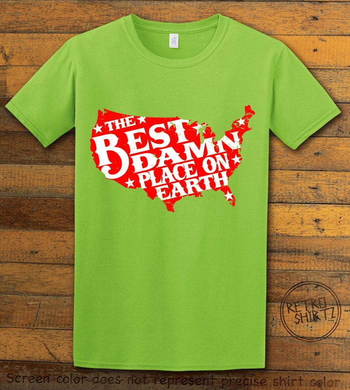 Best Place on Earth Graphic T-Shirt - lime shirt design