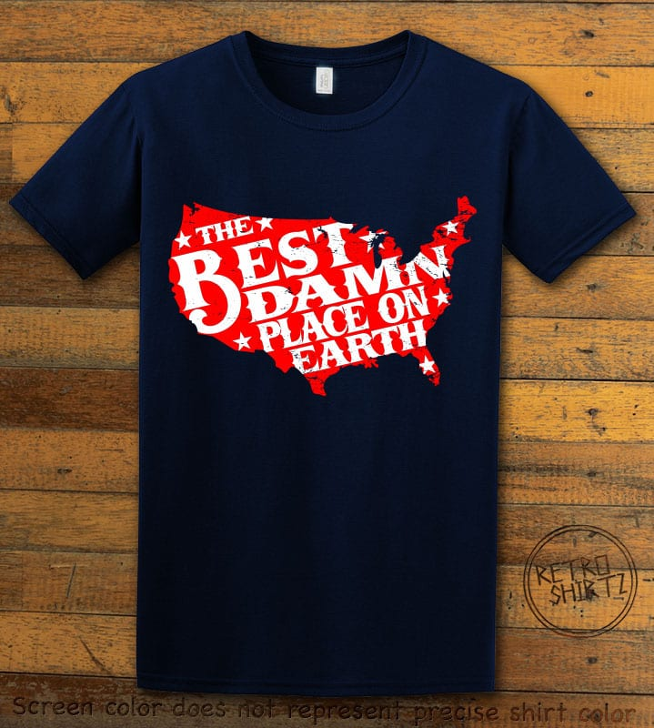 Best Place on Earth Graphic T-Shirt - navy shirt design