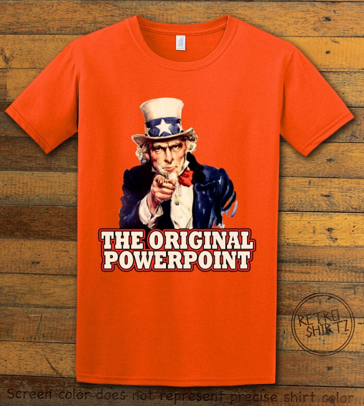 The Original Power Point Graphic T-Shirt - orange shirt design