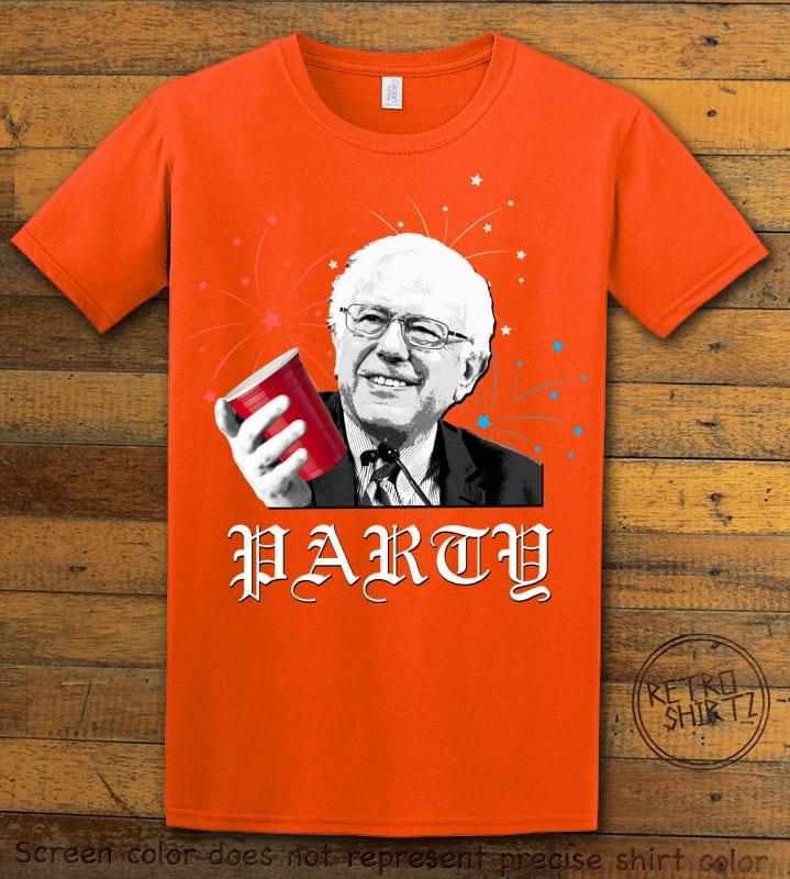 Party Bernie Graphic T-Shirt - orange shirt design