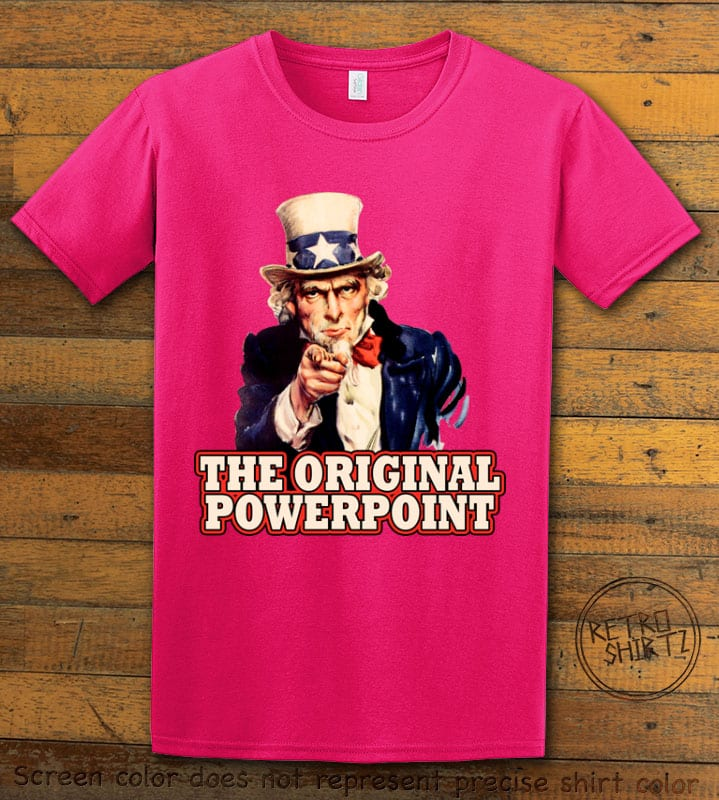 The Original Power Point Graphic T-Shirt - pink shirt design