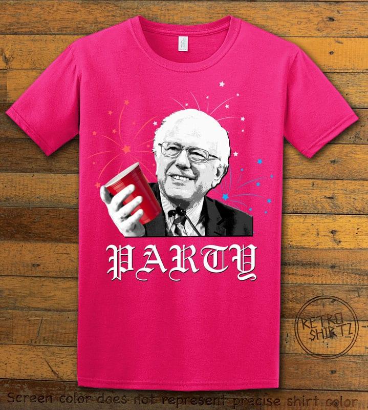 Party Bernie Graphic T-Shirt - pink shirt design
