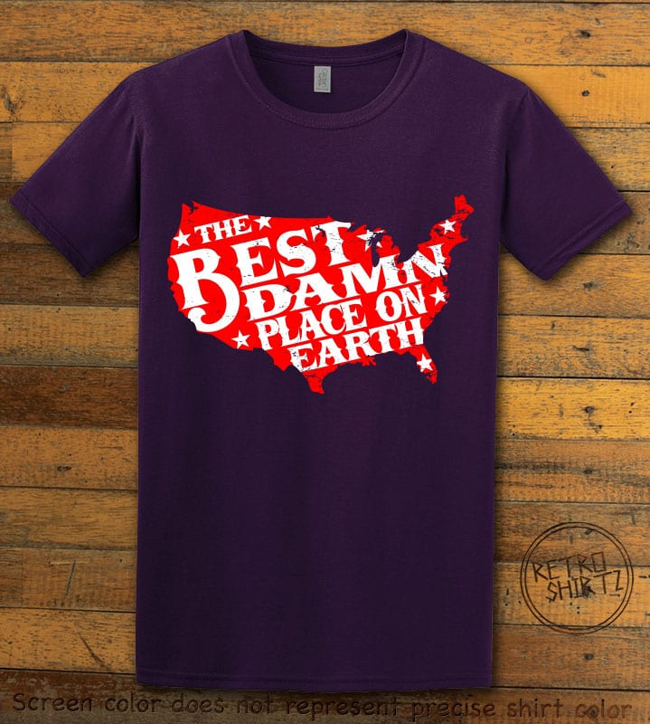 Best Place on Earth Graphic T-Shirt - purple shirt design
