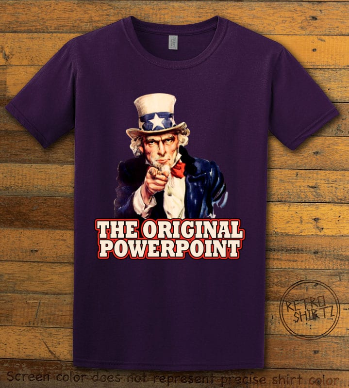 The Original Power Point Graphic T-Shirt - purple shirt design