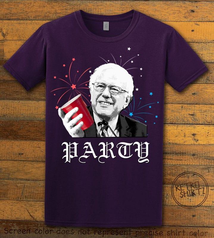 Party Bernie Graphic T-Shirt - purple shirt design