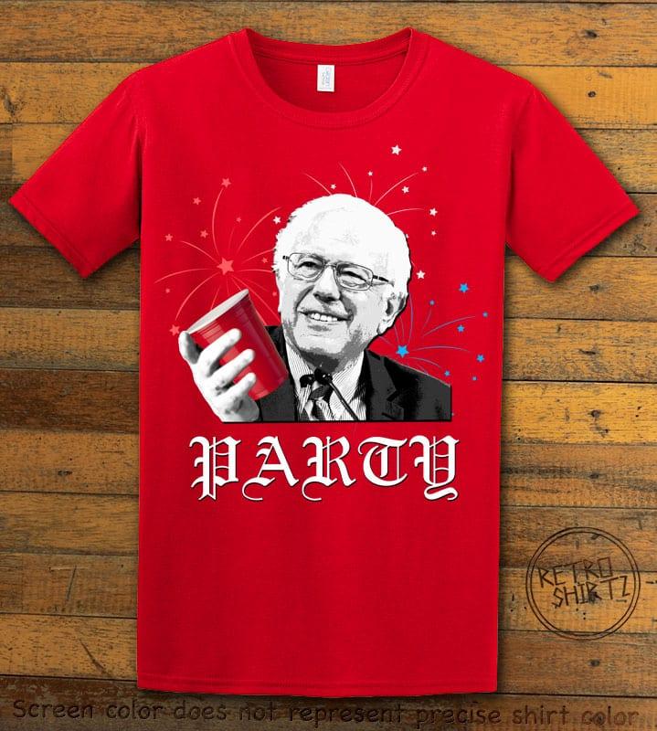 Party Bernie Graphic T-Shirt - red shirt design