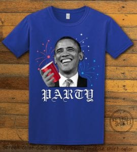 Party Obama Graphic T-Shirt - royal shirt design