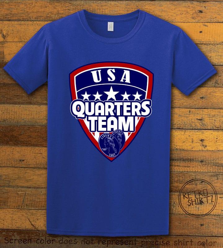 USA Quarters Team Graphic T-Shirt - royal shirt design